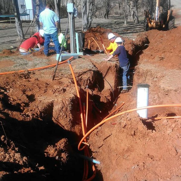 Two feet beneath the ground we laid new conduits to customers that will eventually bring new high-speed fiber internet and other advanced services.