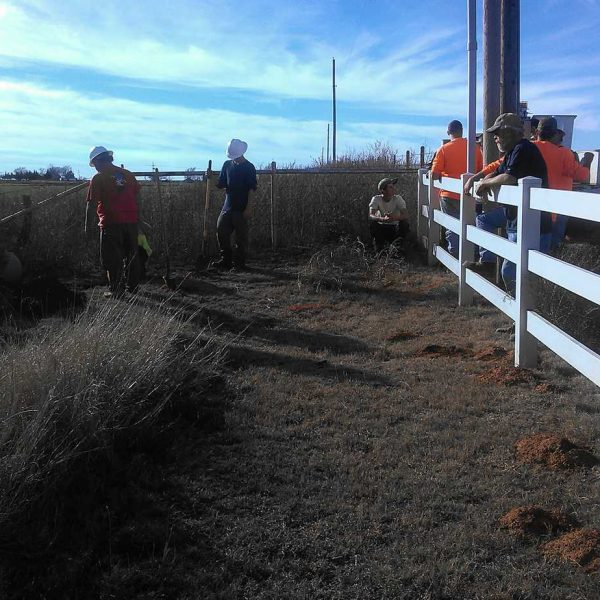 Our contractors and employees worked on a warm January day to get a new line hooked up to a customer to bring them ultra-fast internet.
