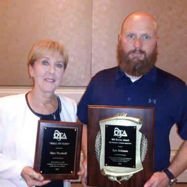 Lyn Johnson & Gary Woodruff honored